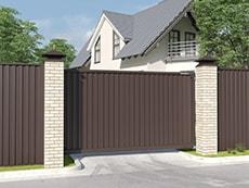 Откатные ворота DOORHAN (порошковая покраска, RAL8017) для проема 4000*2000(Ш/В), заполнение-профлист 0,7мм - 30 500руб., калитка 17 500руб. Подробная информация у наших менеджеров.